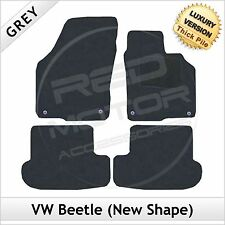 VW Beetle (New Shape) 2012 onwards Tailored LUXURY 1300g Carpet Car Mats GREY