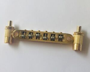 Roller bridge für E-Gitarre, electric guitar, gold, Bolzenabstand 73,5