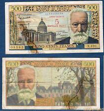 5 Nouveaux Francs sur 500 Francs Victor Hugo – 12-2-1959 Qualité TB -