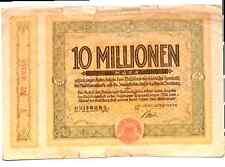 1923 Germany DUISBURG  10.000.000 / 10 Million Mark Banknote