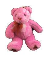"Sweet 10"" Commonwealth Plush Solid Pink Bear Ribbons Hearts Feet Stuffed Animal"