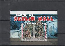 Gambia 2014 MNH Fall Berlin Wall 25th Anniversary Graffiti Art 2v S/S