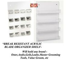 Wall Mount CLIPPER BLADE/Comb HOLDER SHELF Organizer Case for Oster,Andis,Wahl