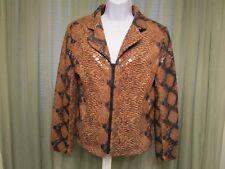 Selene Women's Juniors Casual Work Evening  Snake Animal print jacket Size S