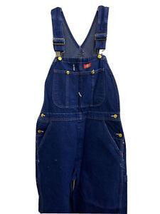 Dickies Mens Bib Overall Cotton Indigo Blue Carpenter Utility Workwear