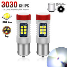 2X 1156 BA15S LED Fog Light 21SMD 6000K White DRL Driving Lamp Bulb Super Bright