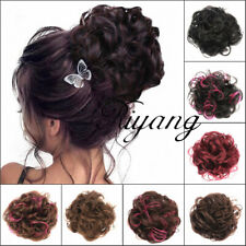 Women's Messy Curl Scrunchies Hair Bun Extension Hairpiece Short Curly Synthetic