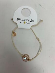Pura Vida Stone Wave Bracelet in Rose Gold Cream NEW