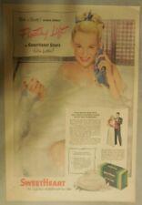 Sweetheart Soap Ad: Bathe in Beauty, Floating Lift Sweetheart Soap ! 1930's