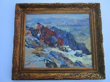 FINEST GEORGE MAGNAN PAINTING IMPRESSIONIST OLD MOUNTAIN SIDE HOME AMERICAN