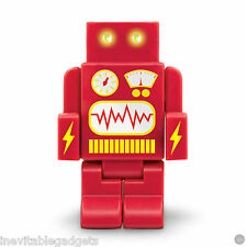 Robo Hub 2000 Robot USB Hub with 4 USB Ports LED Light Eyes Red Gadget Gift