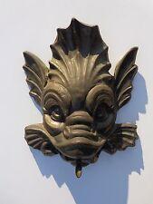 Wonderful Victorian Copper Bronze Dolphin Fish Small Water Fountain Head !