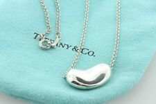 Tiffany & Co. Sterling Elsa Peretti Classic Large Bean Pendant Necklace - 18""