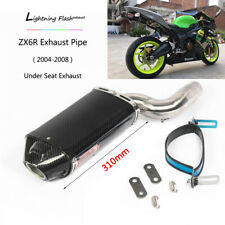 For 2004-2008 Kawasaki Ninja ZX6R ZX636 Exhaust Pipe Motorcycle Mid Slip On Pipe