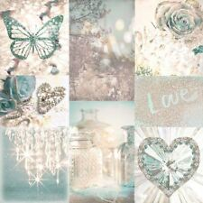 ARTHOUSE TEAL ROMANCE LOVE PARIS MONTAGE GIRLS GLITTER QUALITY WALLPAPER 691108