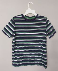 Hanna Andersson Boys T Shirt 150 US 12 Cotton Navy Green White Gray Short Sleeve