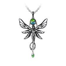 GENUINE Alchemy Gothic Pendant - The Green Goddess | Ladies Fairy Necklace