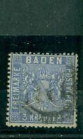Baden, Wertziffer, Nr. 10 gestempelt Nr. 177