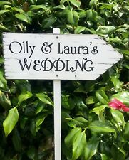 Wedding Welcome Sign Large Personalised Wedding This Way Venue Decoration