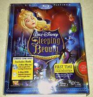 New Disney Sleeping Beauty Blu-ray/DVD 3 Disc Set Platinum Edition USA