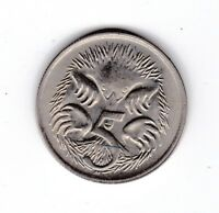 1968 Australia 5 Five Cent Coin  C-196