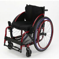"Foldable 24"" Sports Athletic Wheelchair Aluminum alloy Trolley 16inch Seat Width"