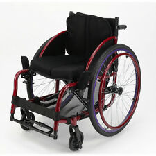 """Foldable 24"""" Sports Athletic Wheelchair Aluminum alloy Trolley 16inch Seat Width"""