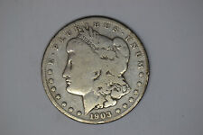 1903-S Morgan Dollar- Circulated Details- 90% Silver.   RARE DATE!