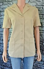 New Women's Tailored Beige Short Sleeved Blazer City Jacket Coat Size 16 RRP £79