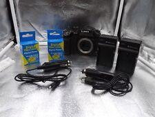 Panasonic Lumix DMC-GH4 Mirrorless 4k Camera Body w/ 2 Chargers and 3 Batteries