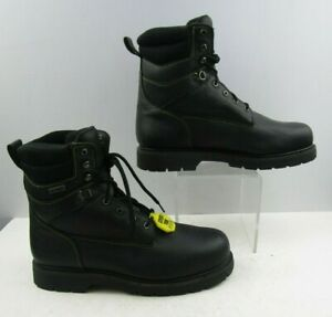 Men's Thom Mcan Black Leather Lace Up Work Boots Size : 13