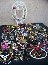 HUGE LOT OF VINTAGE/NOW COSTUME JEWELRY ALL WEARABLE BIG VARIETY NICE 153 PIECES