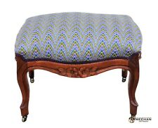 Victorian Upholstered Walnut Footstool