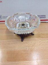 VIntage Glass & METAL LARGE PEDESTAL CIGAR ASHTRAY HOLLYWOOD REGENCY