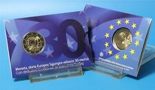 "2015 Lithuania 2 euro comm. coin 30th European Union Flag"" new in coincard"