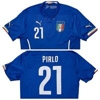 PUMA Italy Italia Andrea Pirlo Soccer Football Jersey 2014 Blue Men's XL