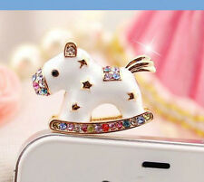 Horse Charms Cute Diamond Rhinestone Sparkle 3.5 mm Universal Mobile Dust Plug