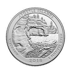 In Stock!!! 2018-S Apostle Islands National Park Quarter-Silver Deep Cameo Proof