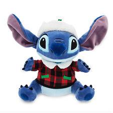 Disney Store Santa Stitch Medium Stuffed Animal Alien Doll Kids Toy Lilo Hawaii