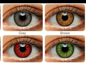 Good quality contact lenses, different colours red blue green Hazel Gray brown