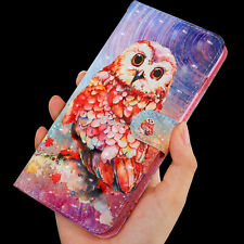 3D Lovely Cute Owl Multi-function flip Card slot wallet Leather Phone case cover