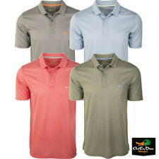 DRAKE WATERFOWL CLOTHING COMPANY SHORT SLEEVE HEATHERED POLO SHIRT