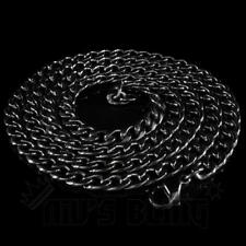 18K Premium Black Gold Plating Stainless Steel Cuban Link Chain Mens Necklace