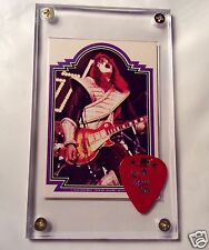 KISS Ace Frehley Donruss card #21 / official red signature guitar pick display!!