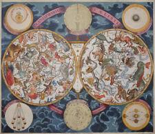 SELTEN HIMMELSKARTE TIERKREISZEICHEN PLANISPHAERIUM CAELESTE EIMMART HOMANN 1720