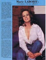 Coupure de presse Clipping 1976 Marie Laborit  (1 page)