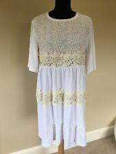 See By Chloe White/Cream Flare Sleeve Beach Dress size S