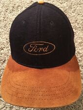 Vintage Ford Adjustable Baseball Cap/Hat W/ Suede Visor, Made In USA!