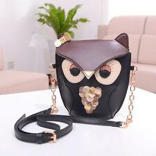 Owl Print Shoulder Bag Cross Body Purse Satchel Messenger Handbag  Cute Fashion