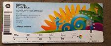 Eintrittskarte/Ticket #24 Italien - Costa Rica, WM2014, ungeknickt!